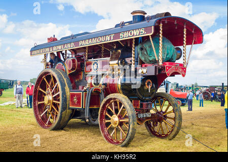 A John Fowler showmans road locomotive from the 1930s on show in South Cerney Glos England UK - Stock Photo