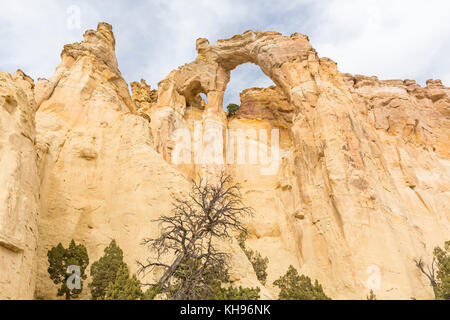 Grosvenor Arch double arch off of Cottonwood Canyon Road in Grand Staircase Escalante National Monument near  Utah. - Stock Photo