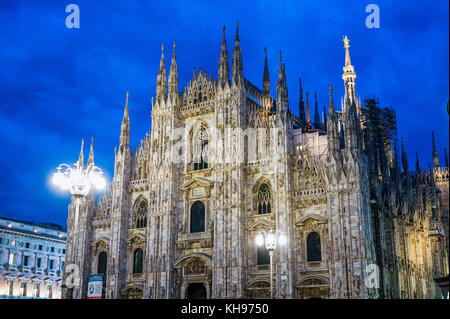 Italy. Lombardy. Milan. Milan Cathedral, Duomo di Milano, one of the largest churches in the world - Stock Photo