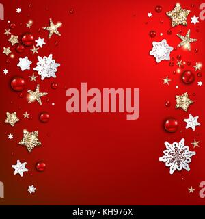 Holiday red christmas background - Stock Photo