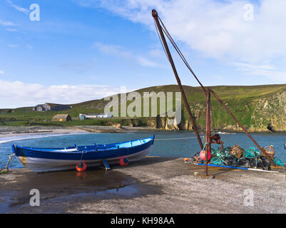 dh North Haven FAIR ISLE SHETLAND Sand beach boats tall ship ...
