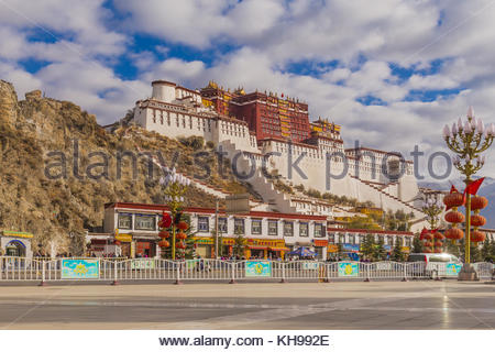The Potala Palace in Tibet - Stock Photo