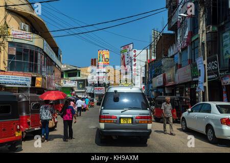 NEGOMBO, SRI LANKA - DECEMBER, 2016: city street on sunny day - Stock Photo