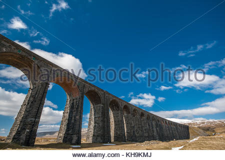 Ribblehead Viaduct near Ingleton Yorkshire - Stock Photo
