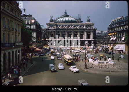 Opéra Garnier, Place de l'Opéra, Paris, France, 1961 - Stock Photo