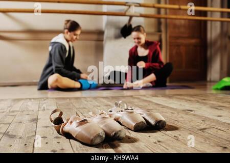 ballerina in rehearsal or training - Stock Photo
