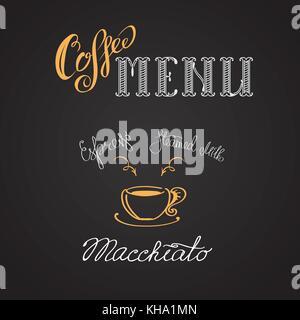 Coffee macchiato, hand drawing vector illustration - Stock Photo