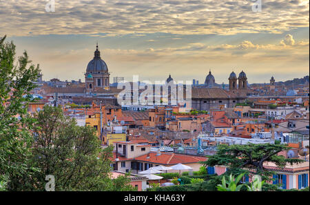 ROME, ITALY - OCTOBER 31: (EDITORS NOTE: This HDR image has been digitally composited.) The Basilica dei Santi Ambrogio - Stock Photo