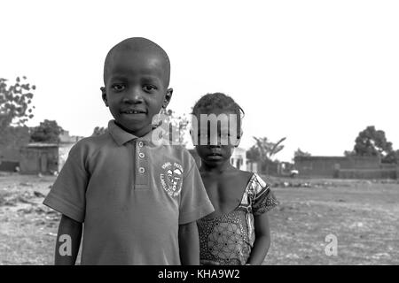 African children with strong expressions on their faces. Taken in Mali. - Stock Photo