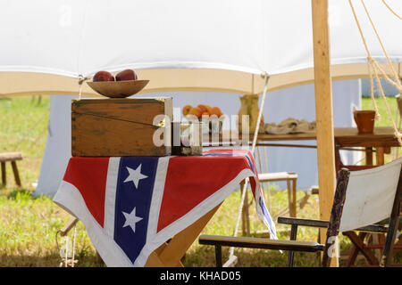 American Civil War Reenactment - Stock Photo
