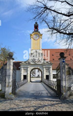 The Castle of Ingolstadt, Bavaria, Germany - Stock Photo