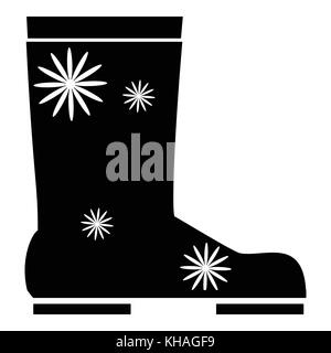 Rubber boot icon, simple style - Stock Photo