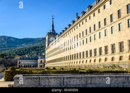Outdoor view of Monastery of El Escorial - Stock Photo