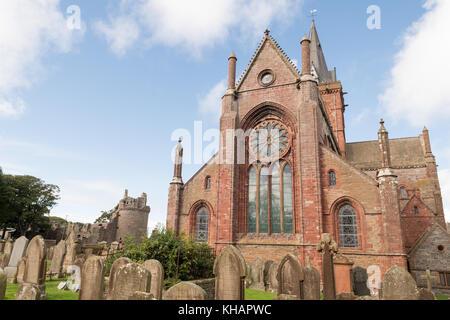 St Magnus Cathedral, Kirkwall, Orkney, Scotland, UK - Stock Photo
