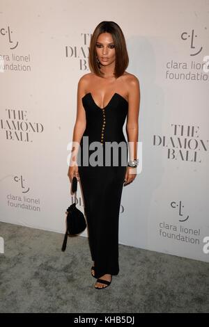 NEW YORK, NY - SEPTEMBER 14: Emily Ratajkowski attends Rihanna's 3rd Annual Diamond Ball at Cipriani Wall Street - Stock Photo