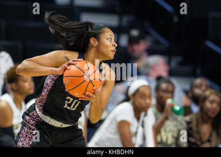 Winston-Salem, NC, USA. 15th Nov, 2017. Texas Southern guard Kaitlyn Palmer (20) looks to drive in the NCAA Womens - Stock Photo