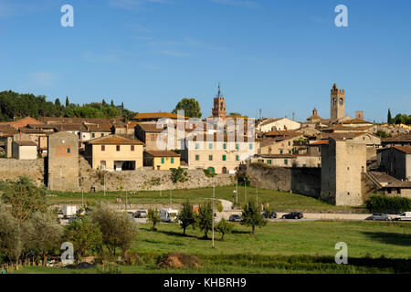 asciano, tuscany, italy - Stock Photo