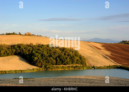 italy, tuscany, crete senesi, countryside - Stock Photo