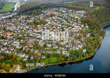 View of Wetter an der Ruhr, Ruhr Area, North Rhine-Westphalia, Germany - Stock Photo