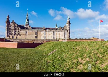 Kronborg Slot (Castle) in Elsinore Denmark Europe - Stock Photo