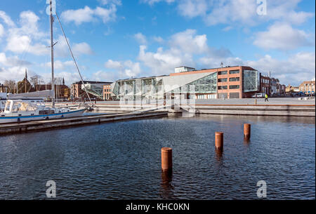 Kulturvaerftet og Bibliotek (The Culture Yard and Library) on the waterfront in Elsinore Denmark - Stock Photo