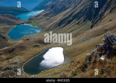 val piora lakes *** Local Caption *** switzerland, ticino, valley, val piora, lakes, laghetti di taneda, lago di - Stock Photo