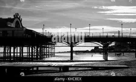 Pier at Cleethorpes, England, UK - Stock Photo