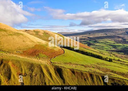 The Howgill hills around Sedbergh in the Yorkshire Dales national park - Stock Photo