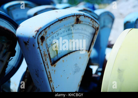 old rusty vintage scales - Stock Photo
