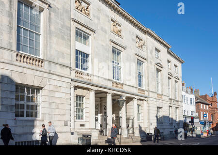 Lewes Crown Court, High Street, Lewes, East Sussex, England, United Kingdom - Stock Photo