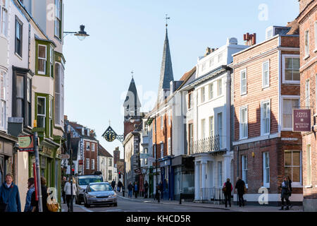 Lewes High Street, Lewes, East Sussex, England, United Kingdom - Stock Photo
