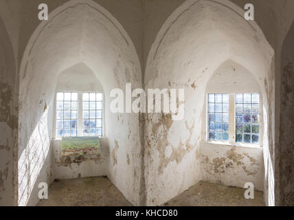 Interior alcoves in South Tower, Lewes Castle & Gardens, Lewes High Street, Lewes, East Sussex, England, United - Stock Photo