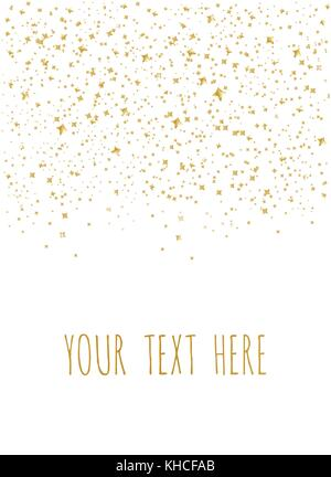Gold Star Vector. Shine confetti pattern. Falling golden stars. Simple background. Eps10 - Stock Photo