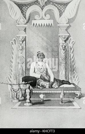King Mindon Min, Burma, circa 1870 - Stock Photo