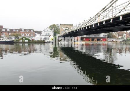 Under the bridge in Marlow Oxfordshire - Stock Photo