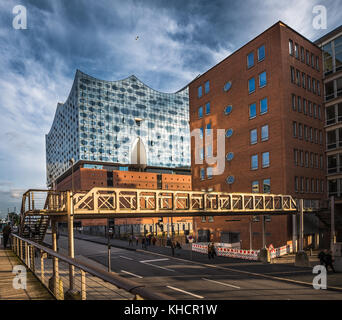 The Elbe Philharmonic Hall or Elbphilharmonie, concert hall in the Hafen City quarter of Hamburg, Germany - Stock Photo