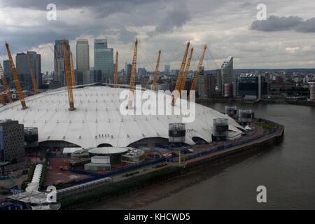 O2 Arena London, Aerial shot - Stock Photo