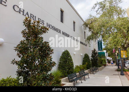 The Charles Hosmer Morse Museum of American Art on Park Avenue in Winter Park Florida United States - Stock Photo