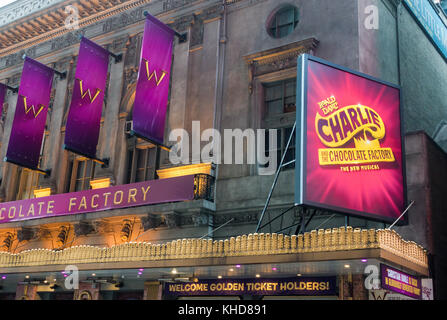 Charlie and the Chocolate Factory, a musical based on the Roald Dahl story at the Lunt-Fontanne Theatre in New York - Stock Photo