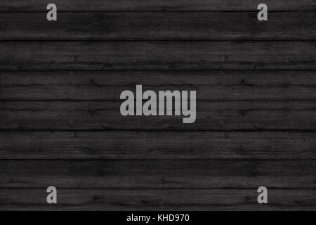 Wood texture background. black wood wall ore floor. - Stock Photo