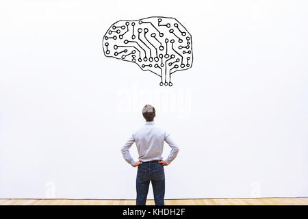 artificial intelligence and machine learning concept - Stock Photo