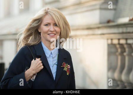 Whitehall, London, UK. 6th November 2017. New Conservative chief whip Esther McVey arrives at Downing Street. Pictured: - Stock Photo