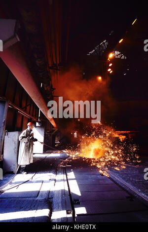 Blast furnace at a metallurgical plant - Stock Photo