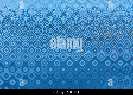 Abstract decorative background in blue shades with ornaments of various shapes, curved lines and spots - Stock Photo