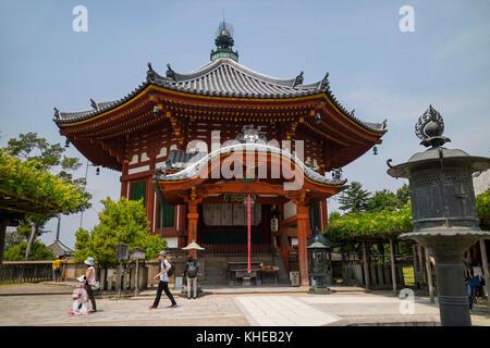 Nara, Japan -  May 31, 2017: Nanendo, Southern Octagonal Hall, at the Kofukuji Temple in Nara - Stock Photo
