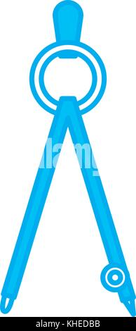 Geometric compass tool - Stock Photo