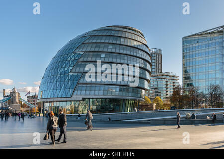 City Hall, headquarters of the Greater London Authority (GLA), the Mayor of London and London Assembly, Southwark, - Stock Photo
