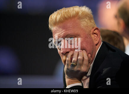 London, UK. 15th Nov, 2017. Boris BECKER, DTB Head of Men s Tennis, watches the match Dominic THIEM, AUT against - Stock Photo