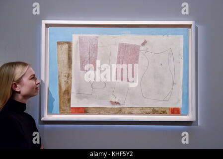 London, UK. 17th Nov, 2017. A staff member views 'Sept 58 (Iseo)', 1958, by Ben Nicholson (Est. GBP 400-600k). Preview - Stock Photo