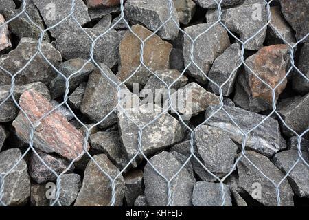 Gray stones background - Stock Photo